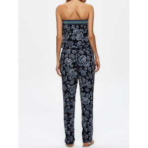 Floral Print Jumpsuit with Pockets -