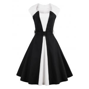 Two Tone Vintage Pin Up Dress