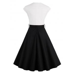 Two Tone Vintage Pin Up Dress -