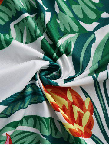 Fashion Leaves Flower Round Fringed Beach Throw - ONE SIZE GREEN Mobile
