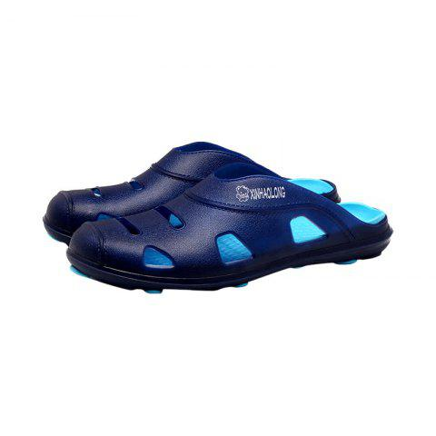 Affordable Hollow Out Letter Pattern Slippers - 45 BLUE Mobile