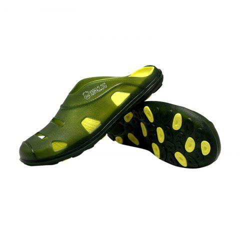 Affordable Hollow Out Letter Pattern Slippers - 40 GREEN Mobile