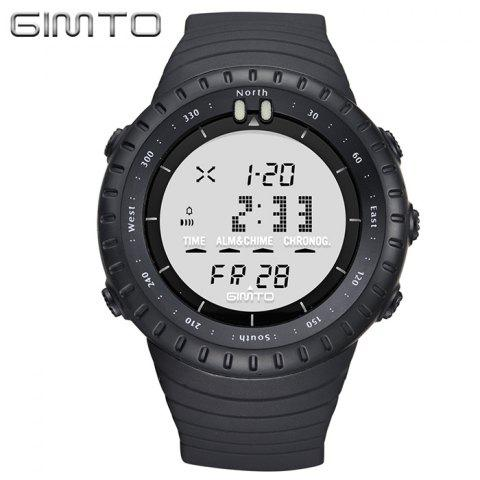 Shops GIMTO Silicone Luminous Digital Sports Watch WHITE
