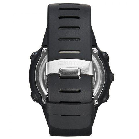Discount GIMTO Silicone Luminous Digital Sports Watch - BLACK  Mobile