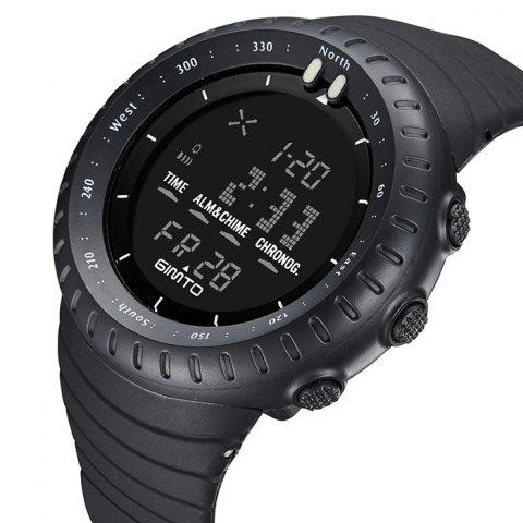 Online GIMTO Silicone Luminous Digital Sports Watch - BLACK  Mobile