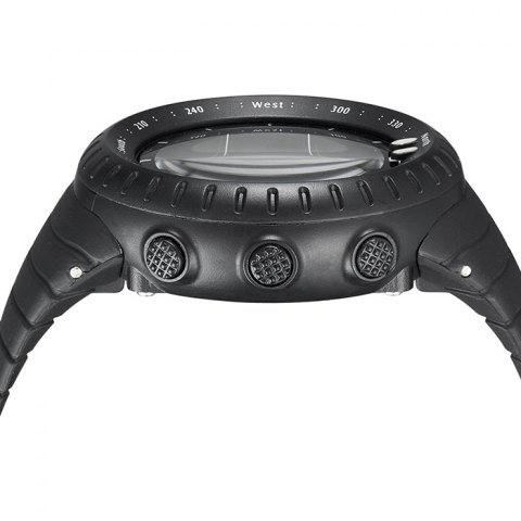 Unique GIMTO Silicone Luminous Digital Sports Watch - BLACK  Mobile