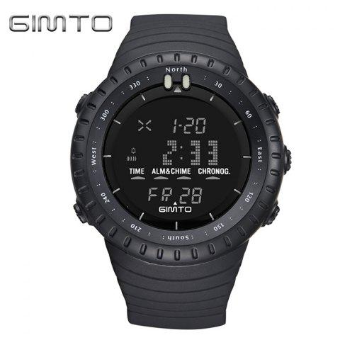 Outfit GIMTO Silicone Luminous Digital Sports Watch - BLACK  Mobile