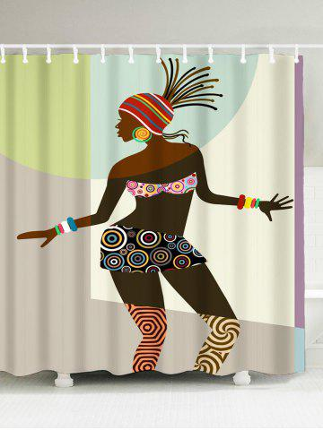 African Woman Fabric Shower Curtain - Colormix - W71 Inch * L71 Inch
