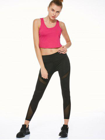 Outfits Mesh Panel Running Leggings - S BLACK Mobile