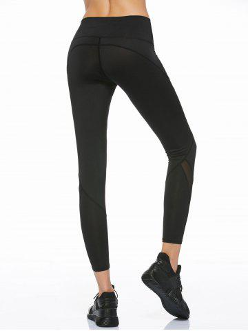 Shops Mesh Panel Running Leggings - S BLACK Mobile
