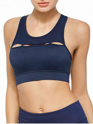 Outfits Cutout Sports Padded Crop Top Bra - S BLUE Mobile