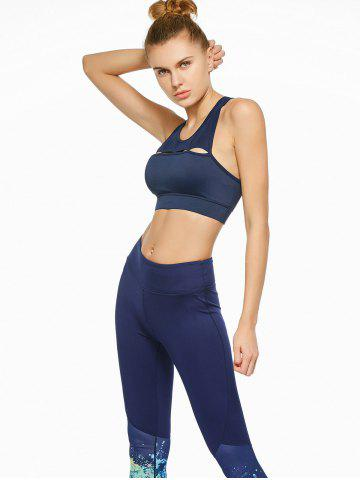 Store Cutout Sports Padded Crop Top Bra - S BLUE Mobile