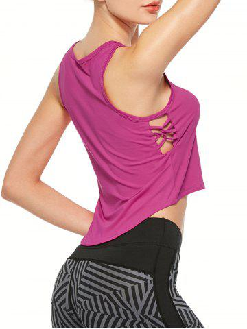 Side Criss Cross Sports Tank Top