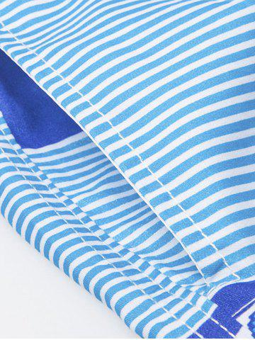 Discount Stripe Beach Shorts - 2XL COLORMIX Mobile