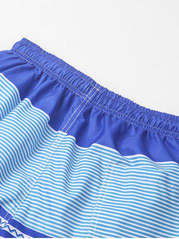Trendy Stripe Beach Shorts - 2XL COLORMIX Mobile