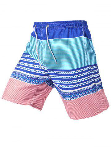 Store Stripe Beach Shorts - 2XL COLORMIX Mobile