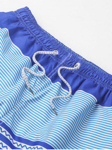 Discount Stripe Beach Shorts - 3XL COLORMIX Mobile