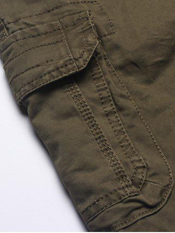 Discount Multi Flap Pockets Cargo Shorts - 32 ARMY GREEN Mobile
