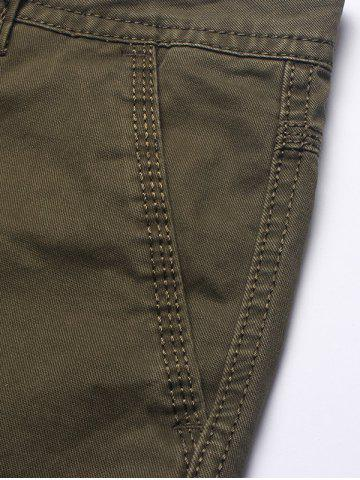 Hot Multi Flap Pockets Cargo Shorts - 32 ARMY GREEN Mobile