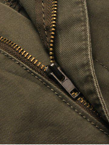 Discount Multi Flap Pockets Cargo Shorts - 34 ARMY GREEN Mobile