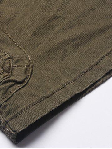 Shop Multi Flap Pockets Cargo Shorts - 38 ARMY GREEN Mobile