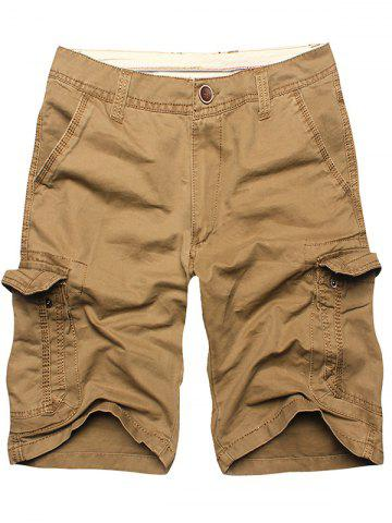 Fancy Multi Flap Pockets Cargo Shorts - 36 EARTHY Mobile