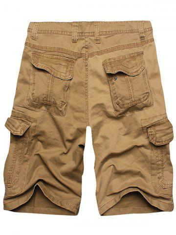 Store Multi Flap Pockets Cargo Shorts - 36 EARTHY Mobile