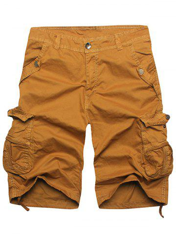 Shops Zip Fly Multi Pockets Cargo Shorts - EARTHY 36 Mobile