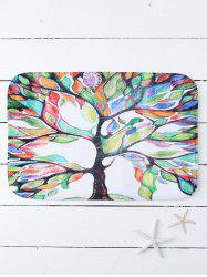 Symbolic Tree Print Water Absorb Mat For Bathroom Floors