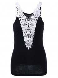 Two Tone Applique Tank Top