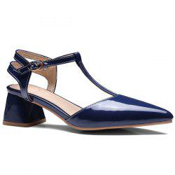 T Bar Pointed Toe Pumps