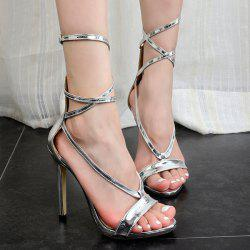 Patent Leather Metallic Color Sandals