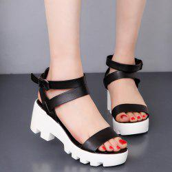 PU Leather Ankle Strap Sandals