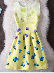 Ombre Floral Sleeveless Mini Dress