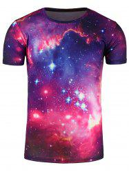 Crew Neck 3D Galaxy Printed Trippy T-Shirt