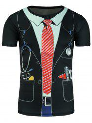 Faux Twinset Doctor Costume Print Novelty T-Shirts