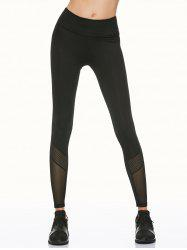 Mesh Insert Fitness Running Leggings