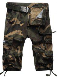 Muti Pockets Camo Shorts - ARMY GREEN CAMOUFLAGE