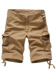 Zipper Fly Cargo Shorts