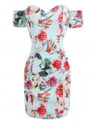 Backless Off The Shoulder Floral Dress