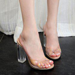 Transparent Plastic Slingback Sandals