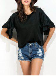 Ruffle Layer Loose Fit Tee