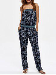 Floral Print Jumpsuit with Pockets