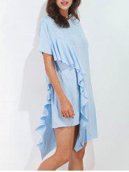 Asymmetrical Ruffle Tee Dress