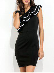 Ruffle One Shoulder Bodycon Dress