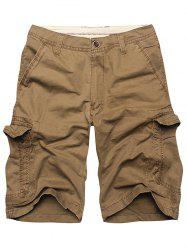 Multi Flap Pockets Cargo Shorts