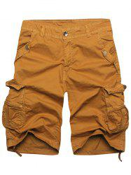 Zip Fly Multi Pockets Cargo Shorts