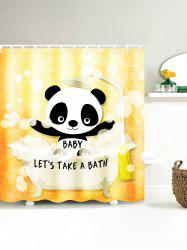 Panda Baby Take A Bath Shower Curtain