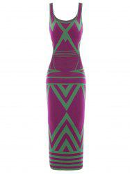 Zigzag Maxi Tank Dress
