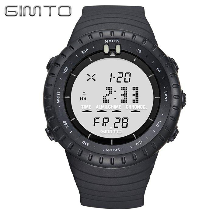 Shops GIMTO Silicone Luminous Digital Sports Watch